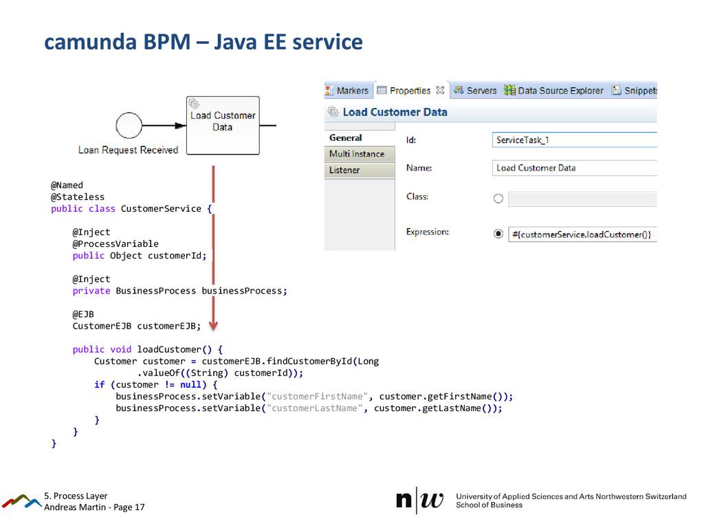 Andreas Martin - Page 17 camunda BPM – Java EE ...