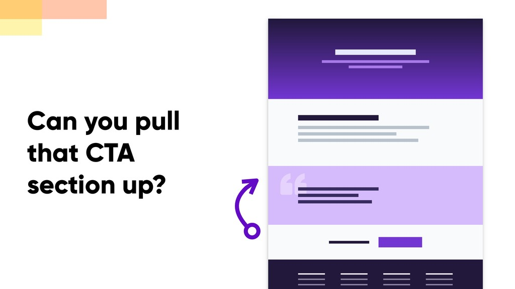 Can you pull that CTA section up?