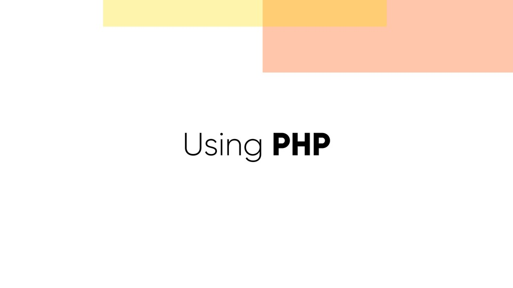 Using PHP