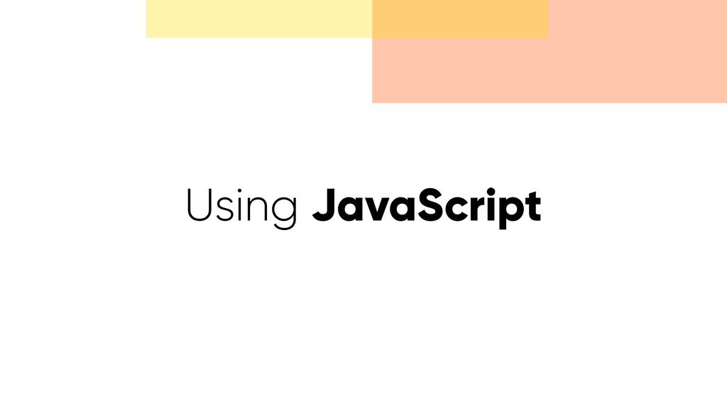 Using JavaScript