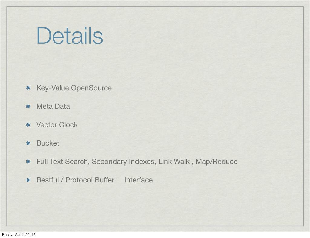 Details Key-Value OpenSource Meta Data Vector C...