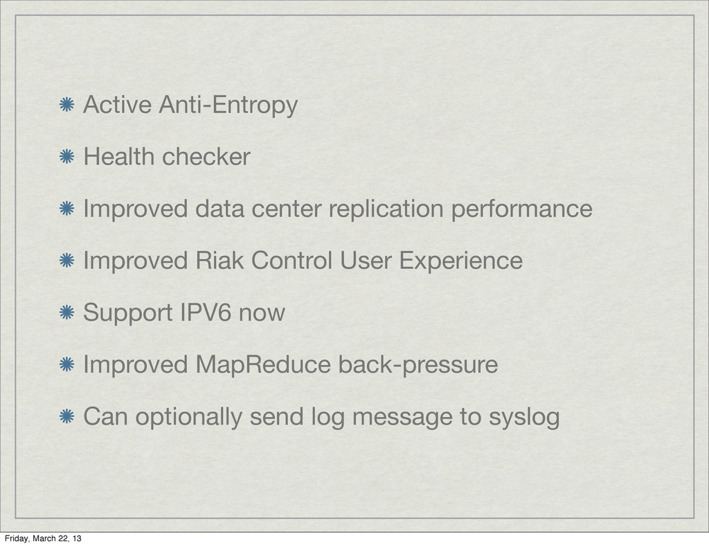 Active Anti-Entropy Health checker Improved dat...