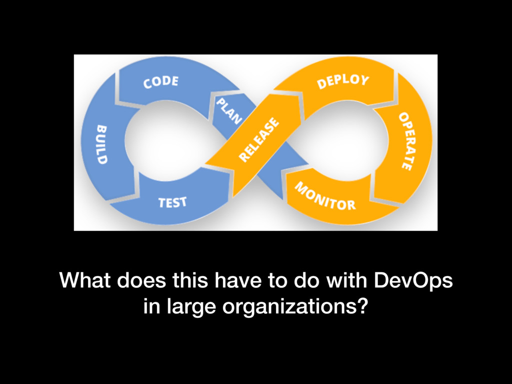 What does this have to do with DevOps in large ...