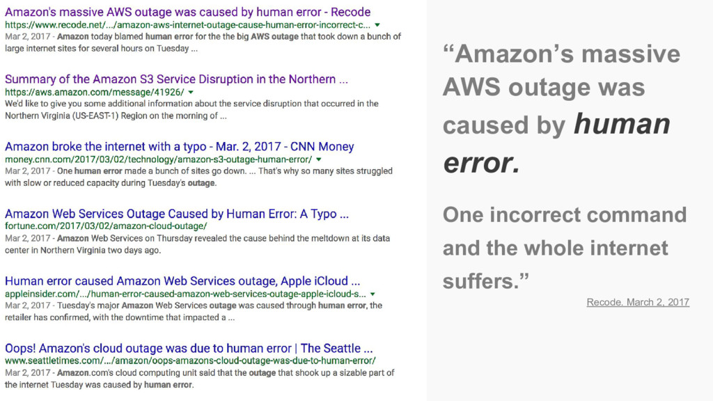 "Amazon's outage ""Amazon's massive AWS outage wa..."