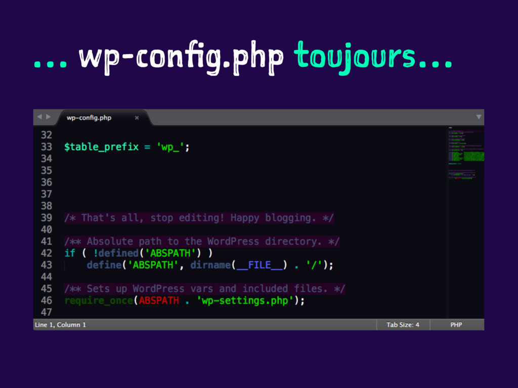 … wp-config.php toujours…