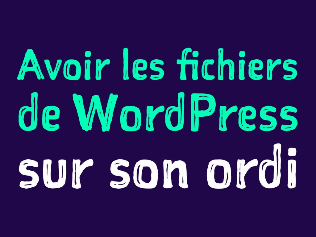 Avoir les fichiers de WordPress sur son ordi