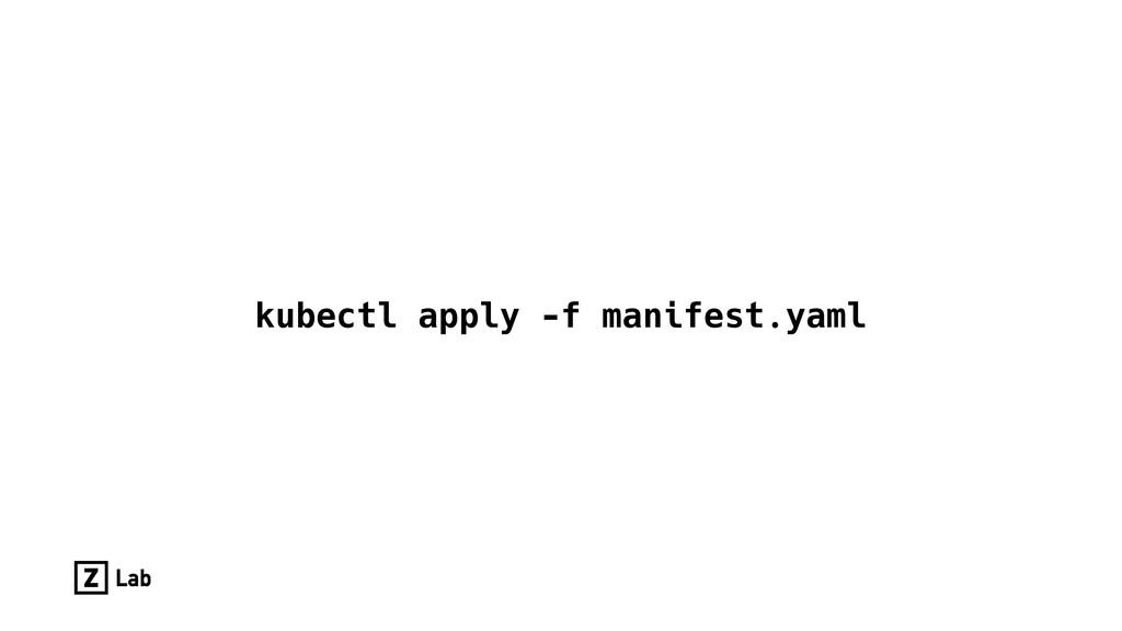 kubectl apply -f manifest.yaml