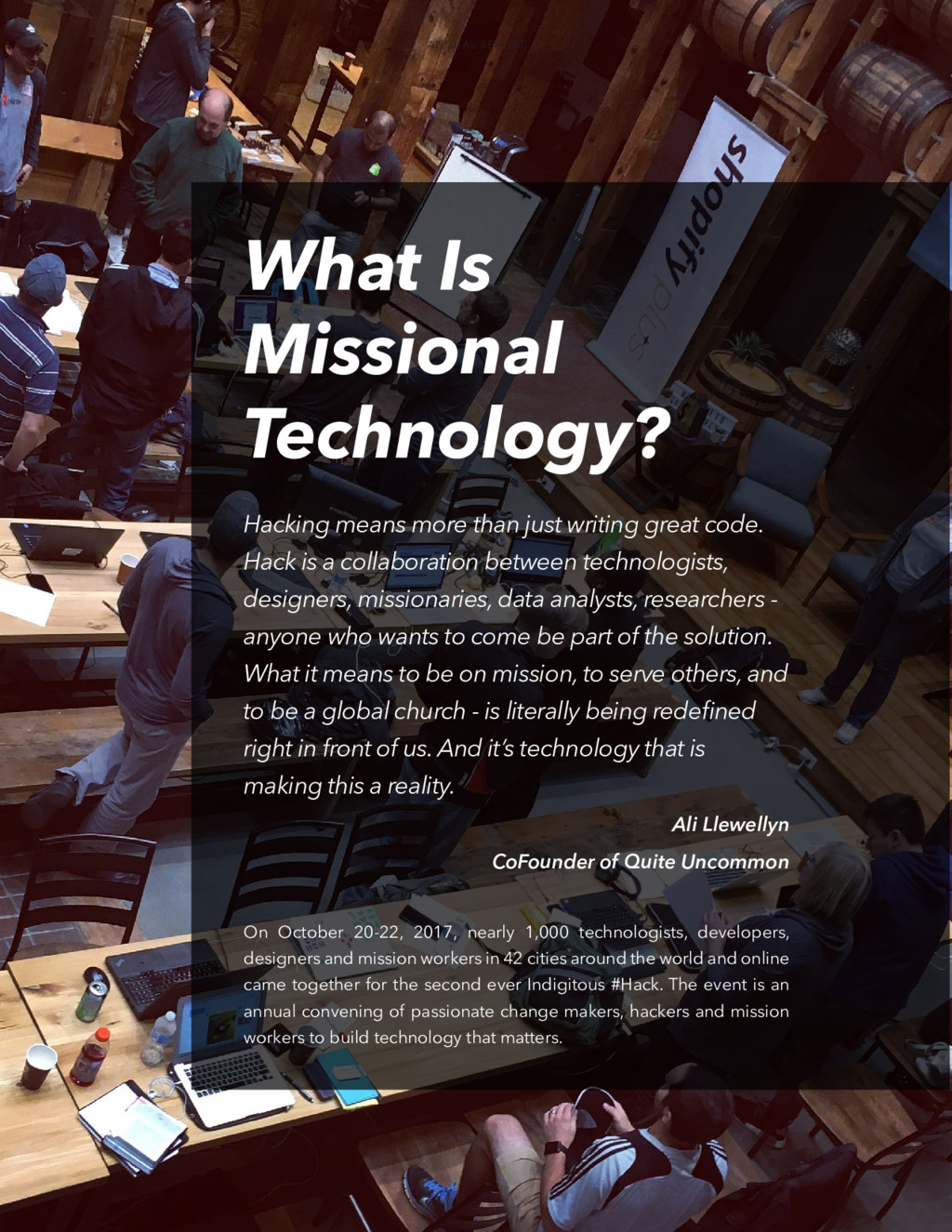 What Is Missional Technology? On October 20-22,...