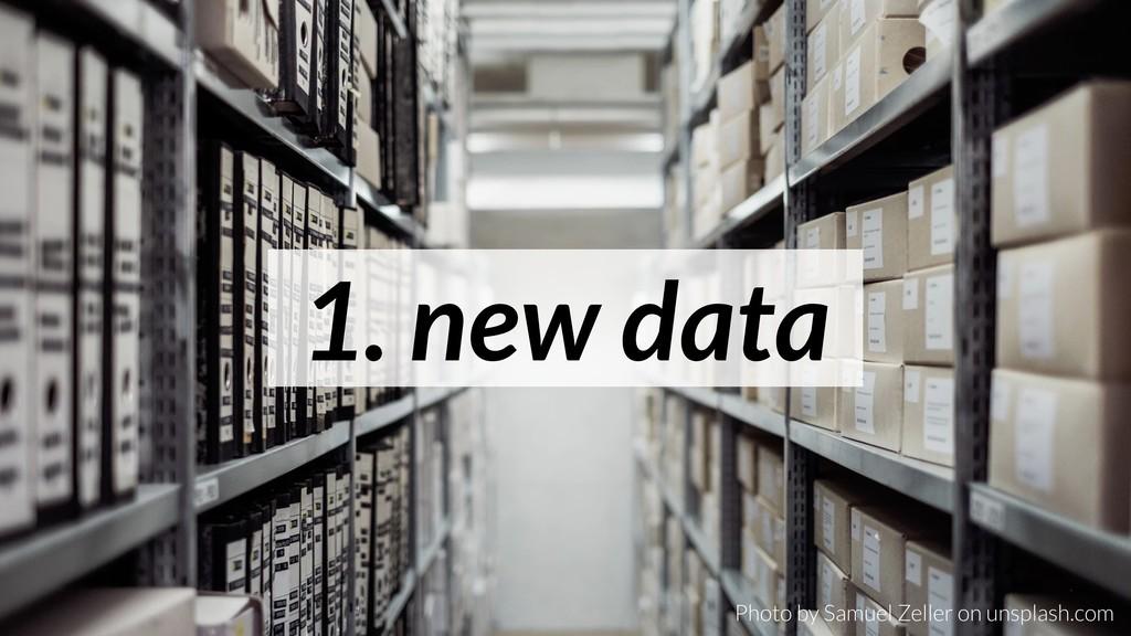 1. new data Photo by Samuel Zeller on unsplash....