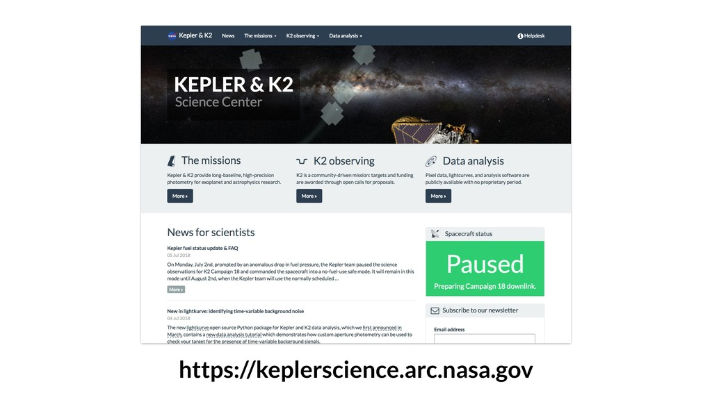 https://keplerscience.arc.nasa.gov