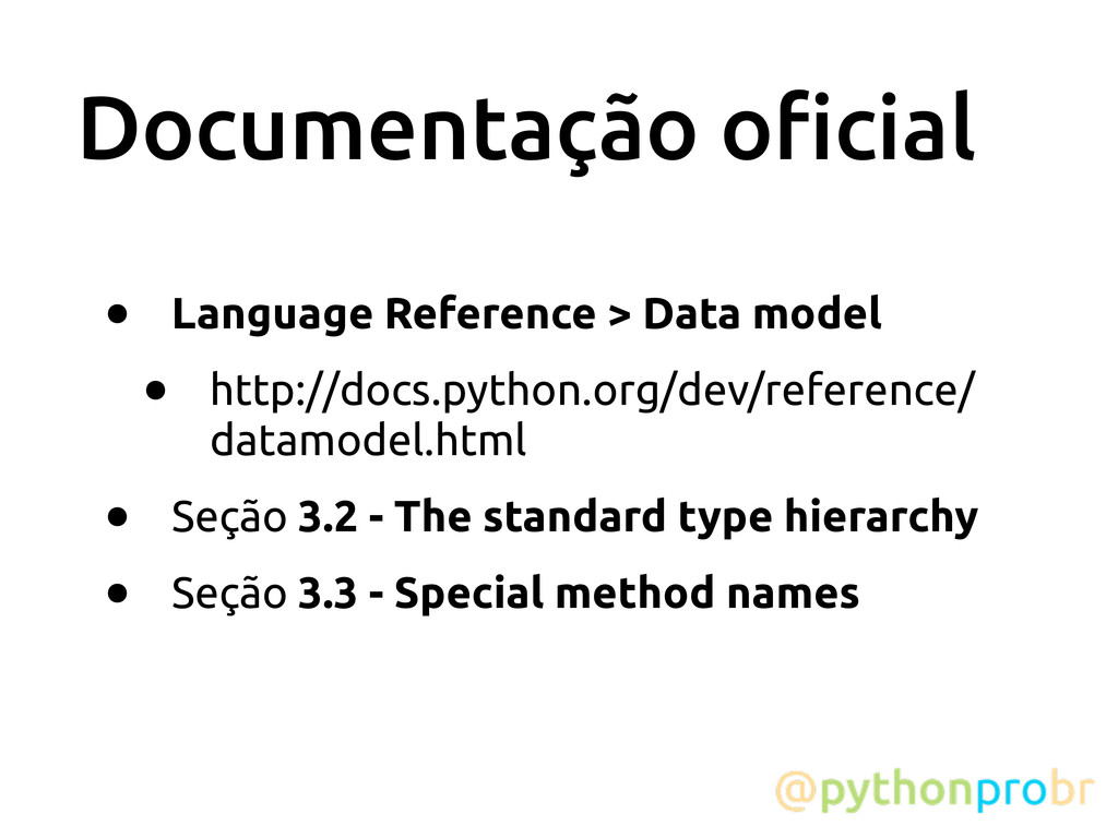 Documentação o!cial • Language Reference > Data...
