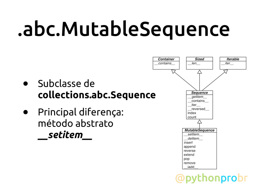 .abc.MutableSequence • Subclasse de collections...