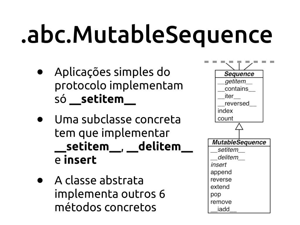 .abc.MutableSequence • Aplicações simples do pr...