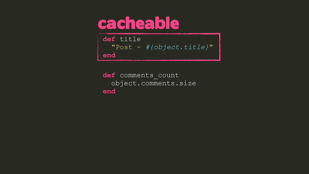 """def title """"Post - #{object.title}"""" end def comm..."""