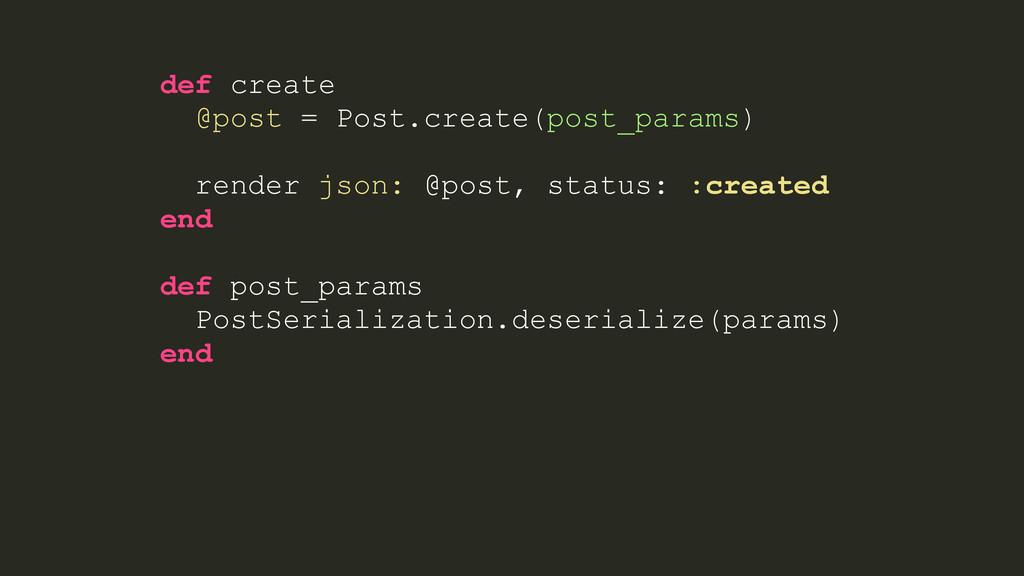 def create @post = Post.create(post_params) ren...