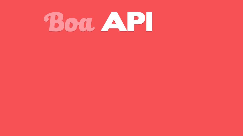Boa API