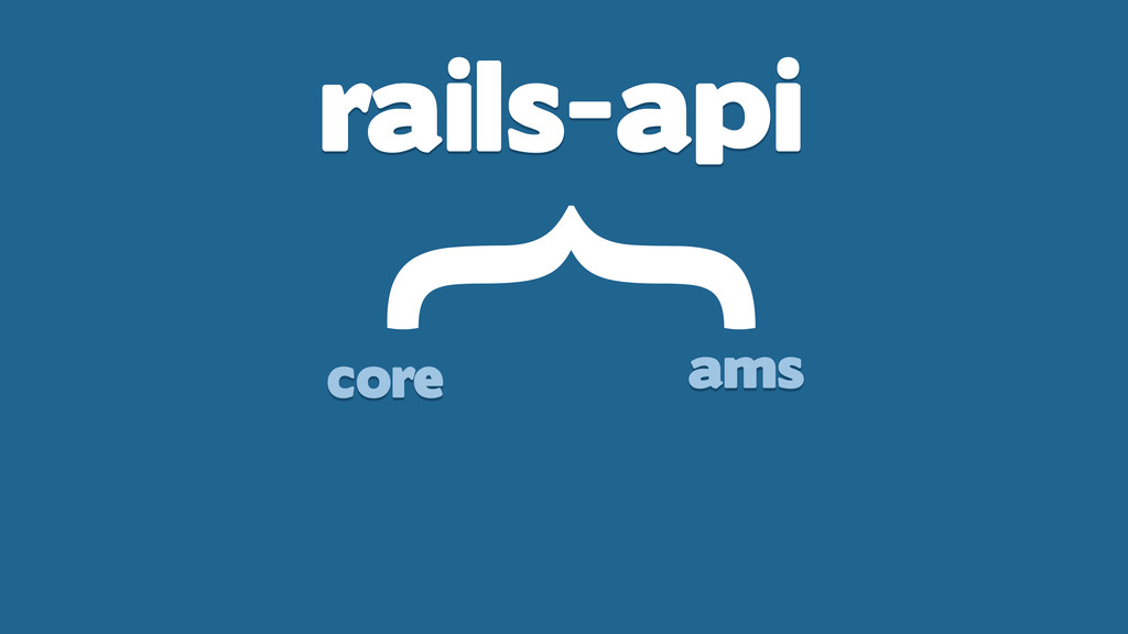 rails-api } core ams