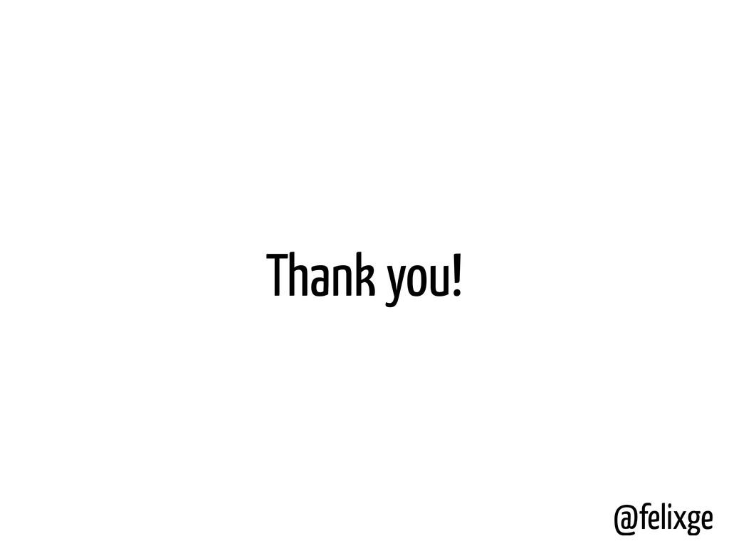 Thank you! @felixge
