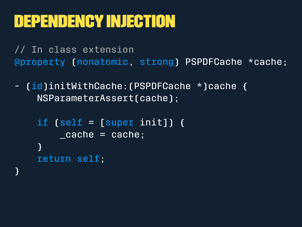 Dependency Injection // In class extension @pro...