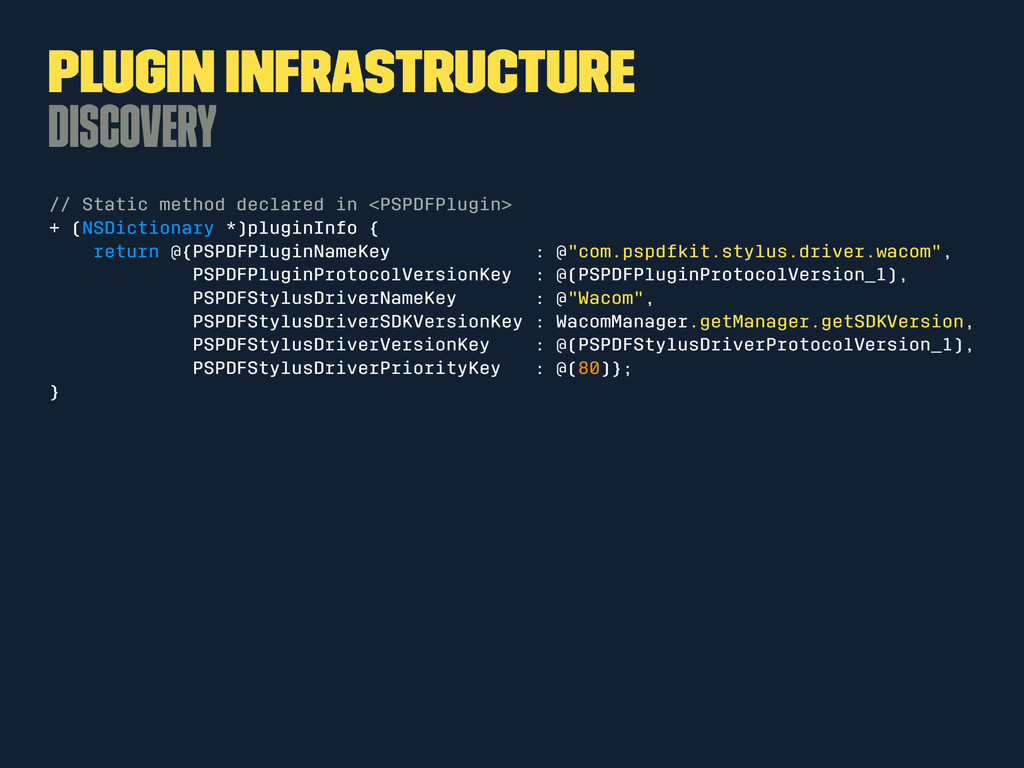 Plugin Infrastructure Discovery // Static metho...