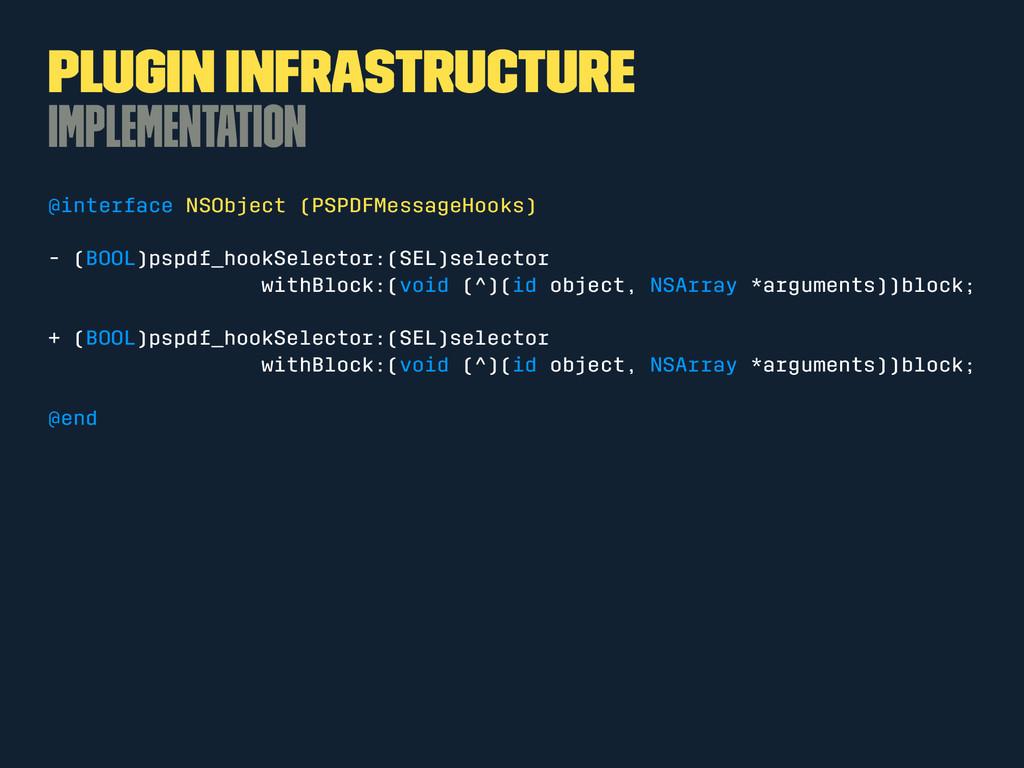 Plugin Infrastructure Implementation @interface...
