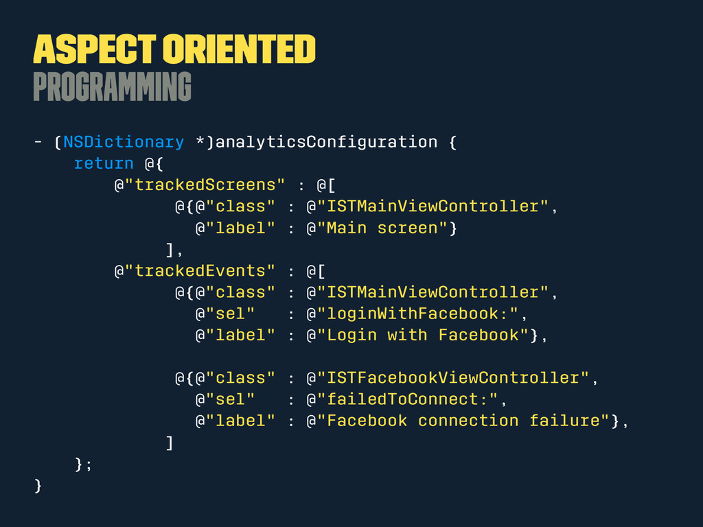 Aspect Oriented Programming - (NSDictionary *)a...
