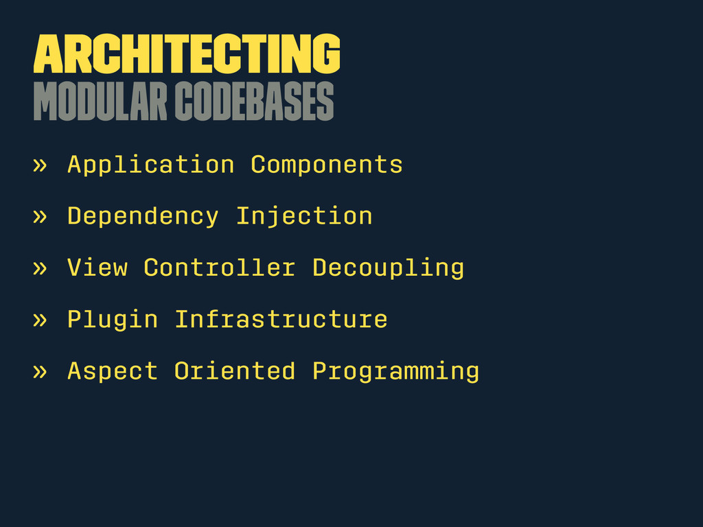 Architecting Modular Codebases » Application Co...