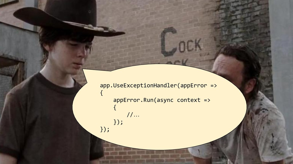 app.UseExceptionHandler(appError => { appError....