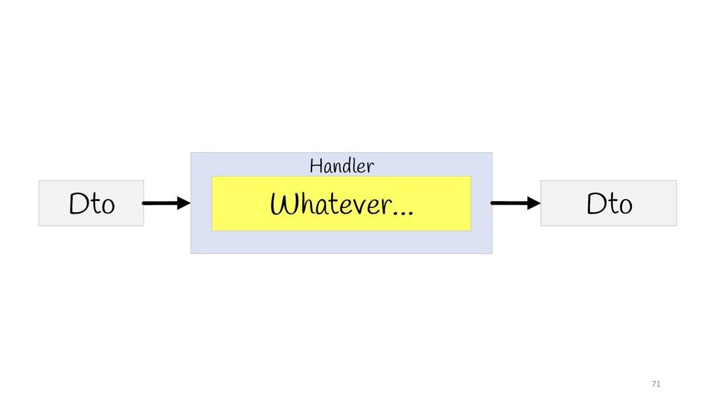 71 Whatever… Dto Dto Handler