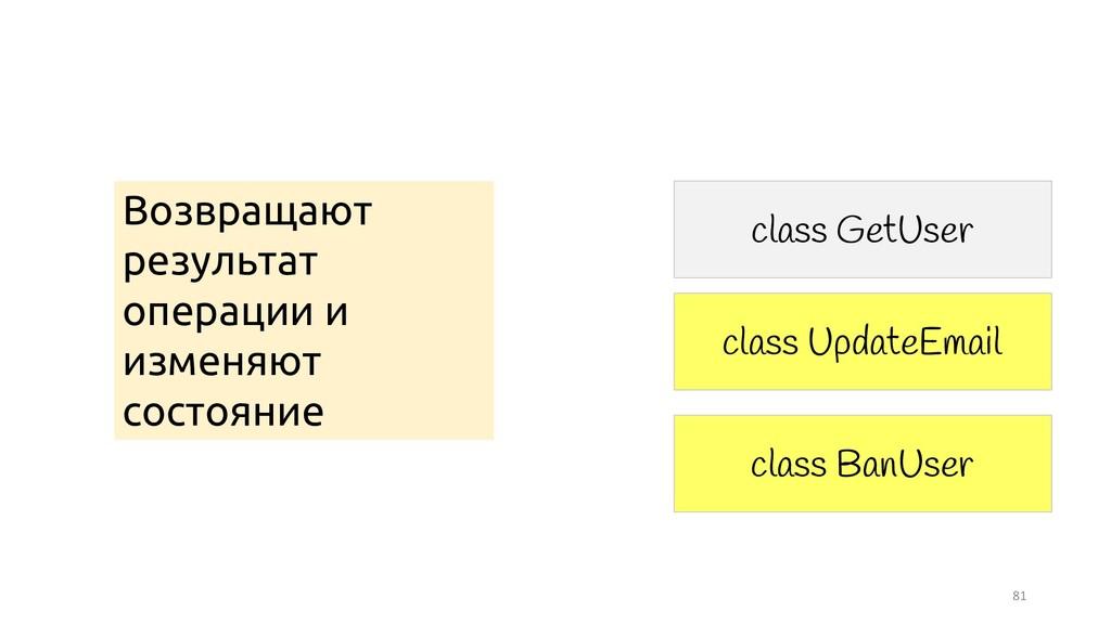 81 class UpdateEmail class GetUser class BanUse...