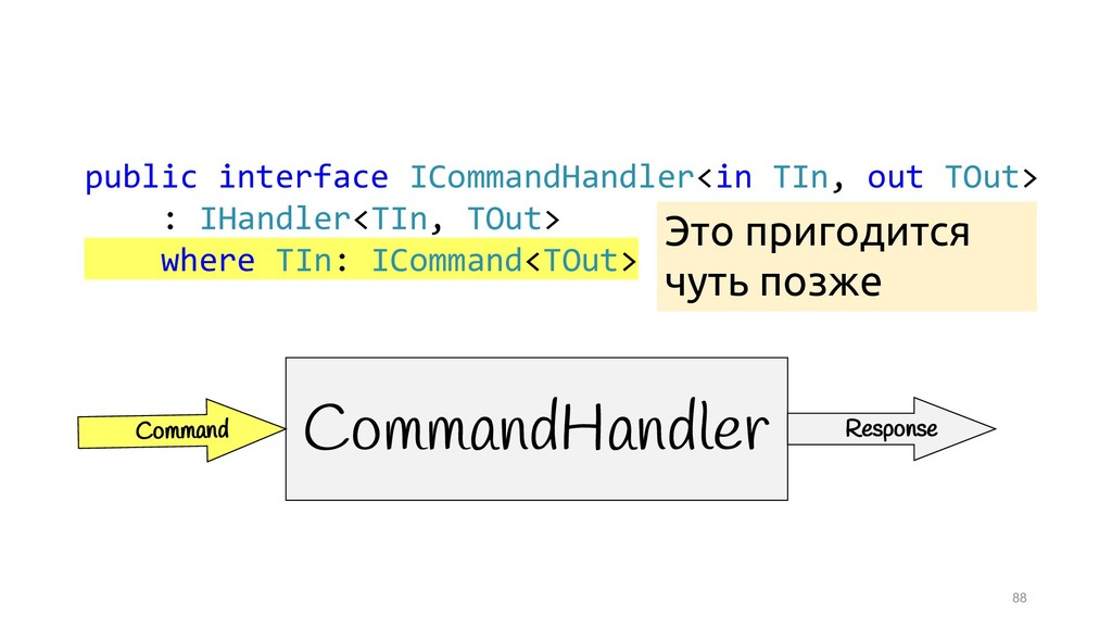 88 public interface ICommandHandler<in TIn, out...