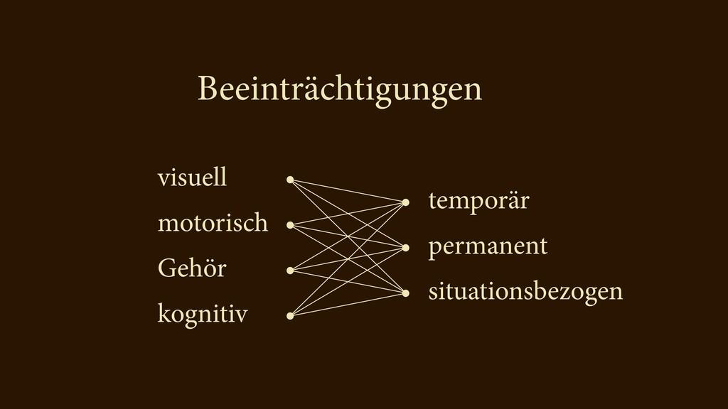 visuell motorisch Gehör kognitiv temporär perma...