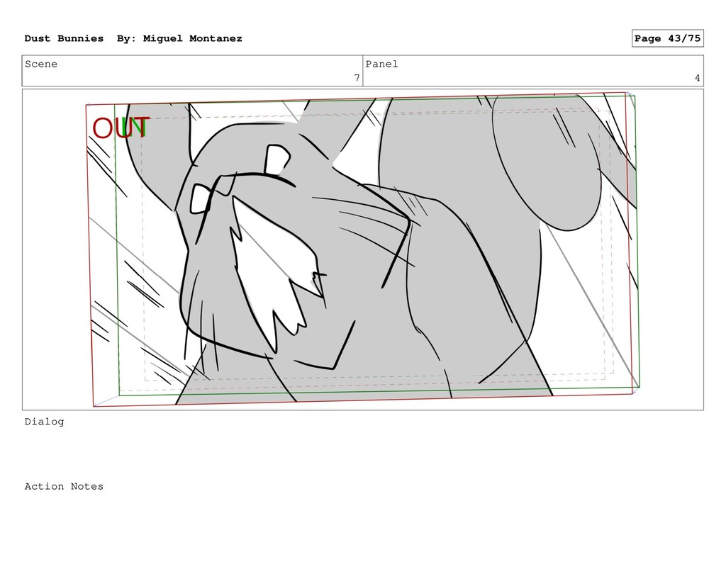 Scene 7 Panel 4 Dialog Action Notes Dust Bunnie...