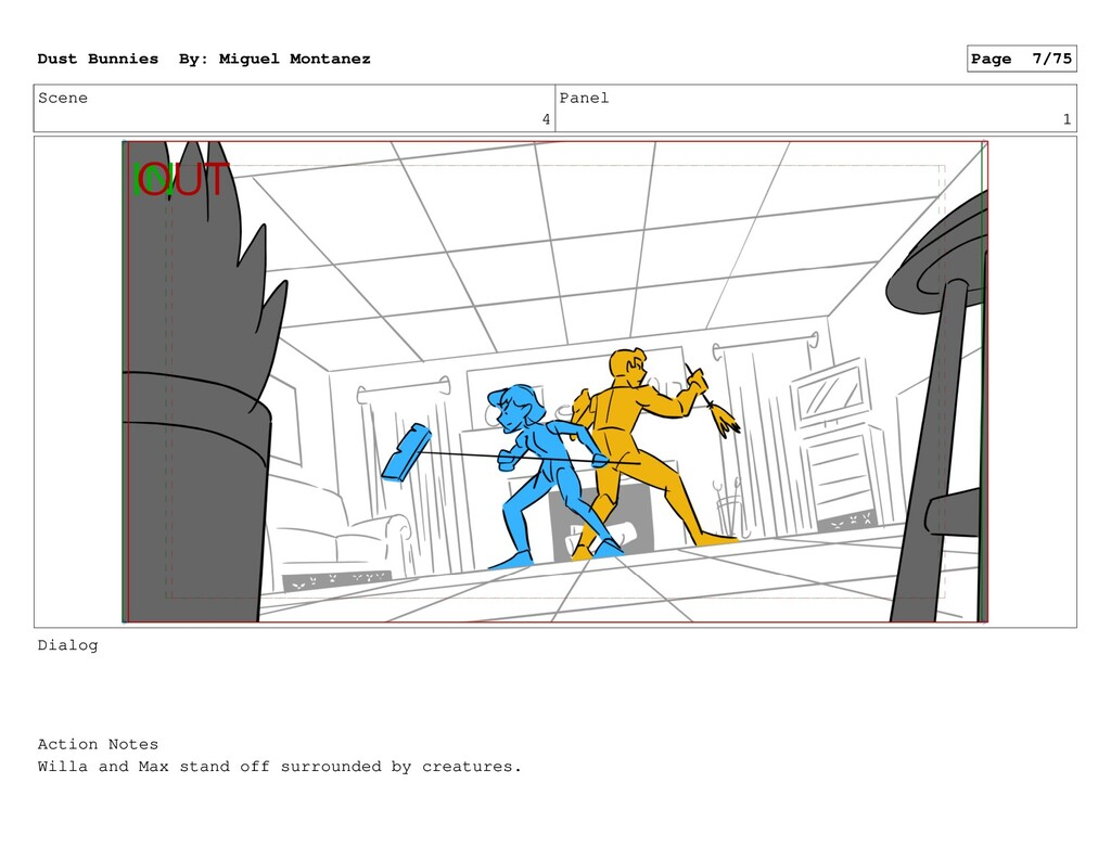 Scene 4 Panel 1 Dialog Action Notes Willa and M...