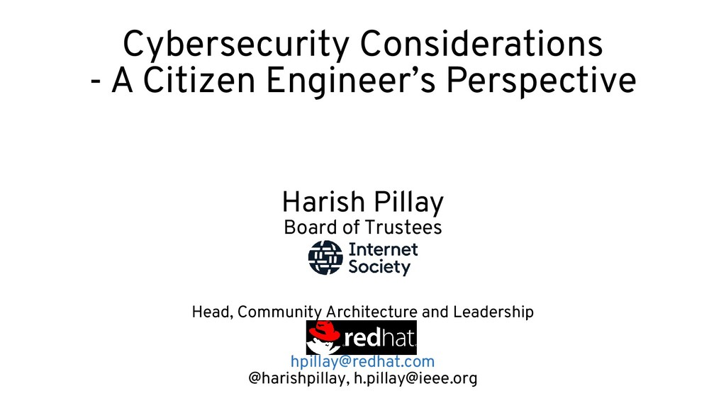 Cybersecurity Considerations - A Citizen Engine...
