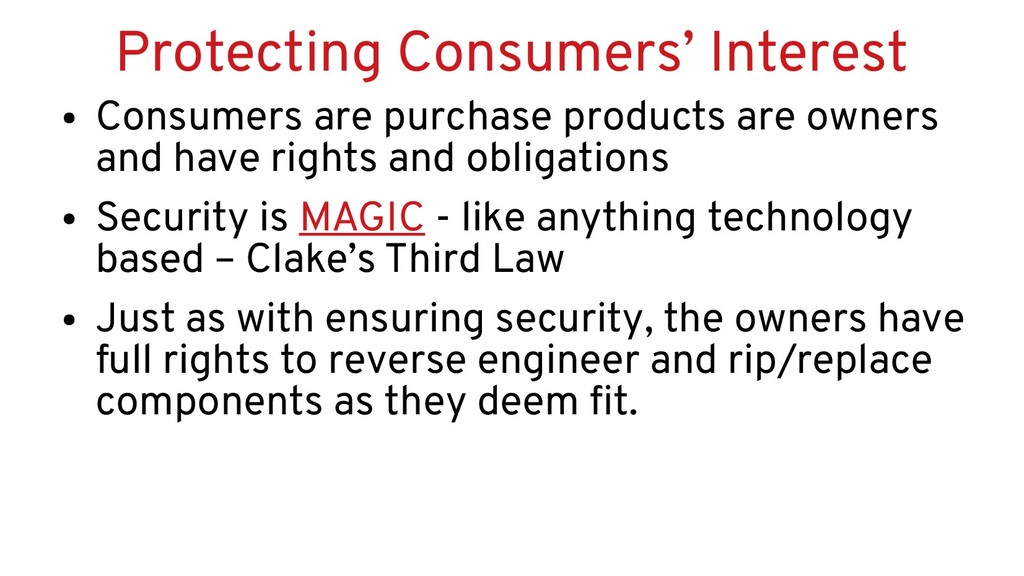 Protecting Consumers' Interest ● Consumers are ...