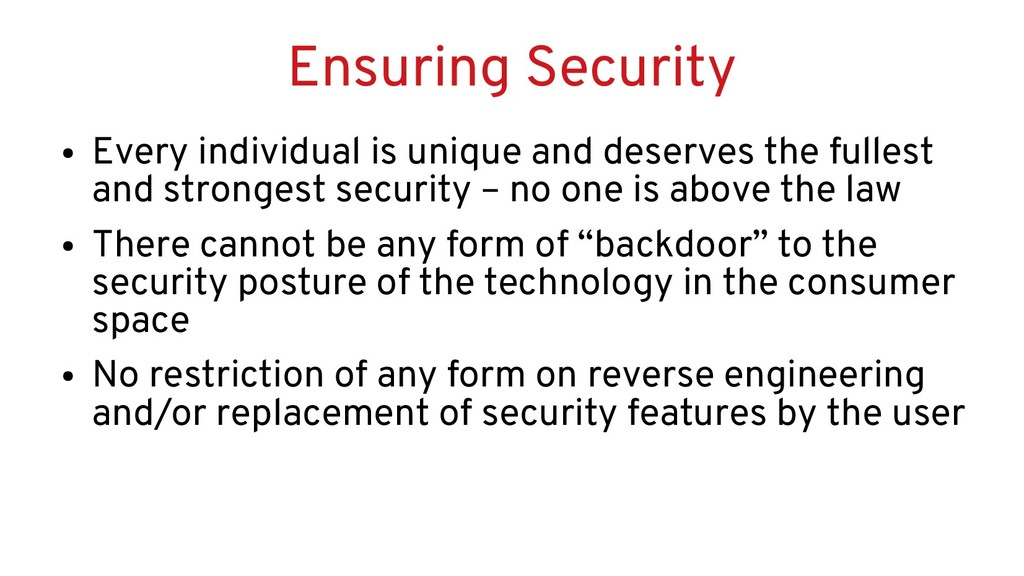 Ensuring Security ● Every individual is unique ...