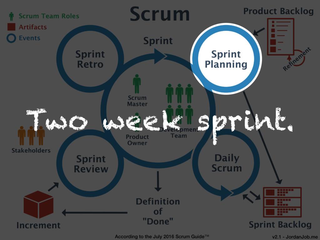 Two week sprint.
