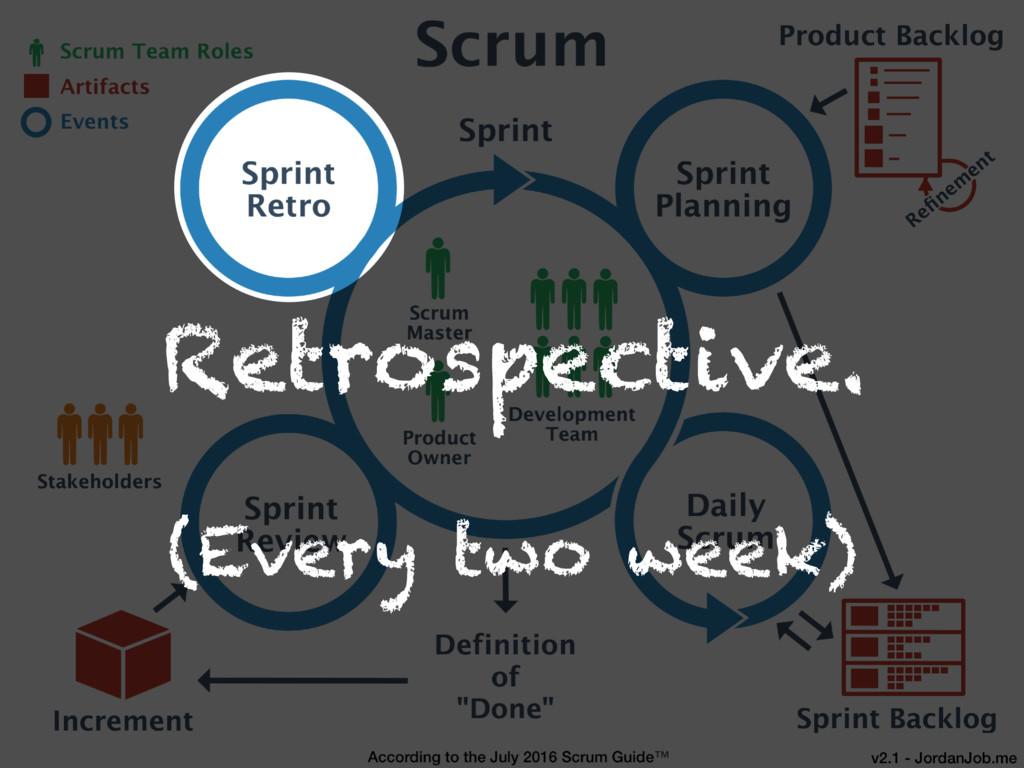 Retrospective. (Every two week)