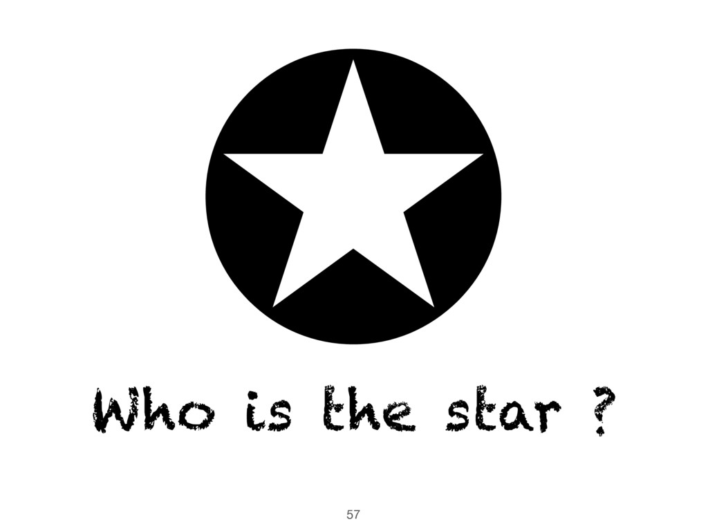 57 ✪ Who is the star ?