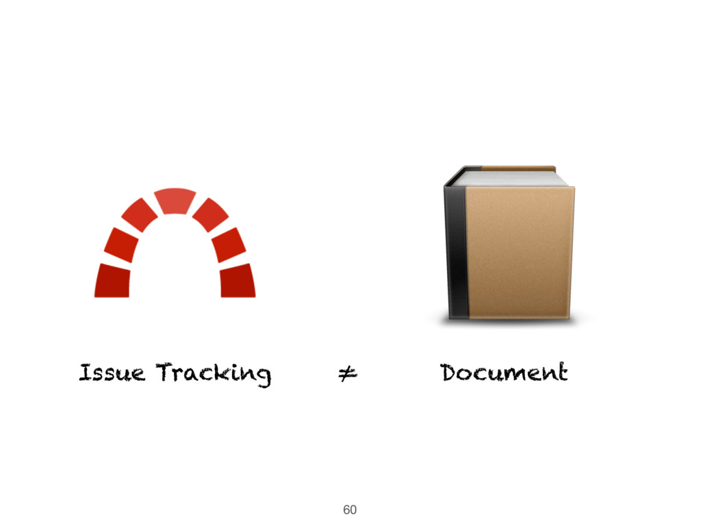 60 ≠ Document Issue Tracking
