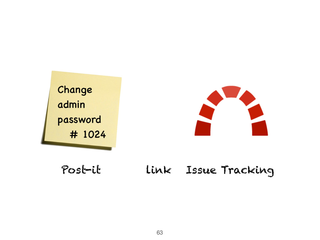 63 link Issue Tracking Post-it Change admin pas...