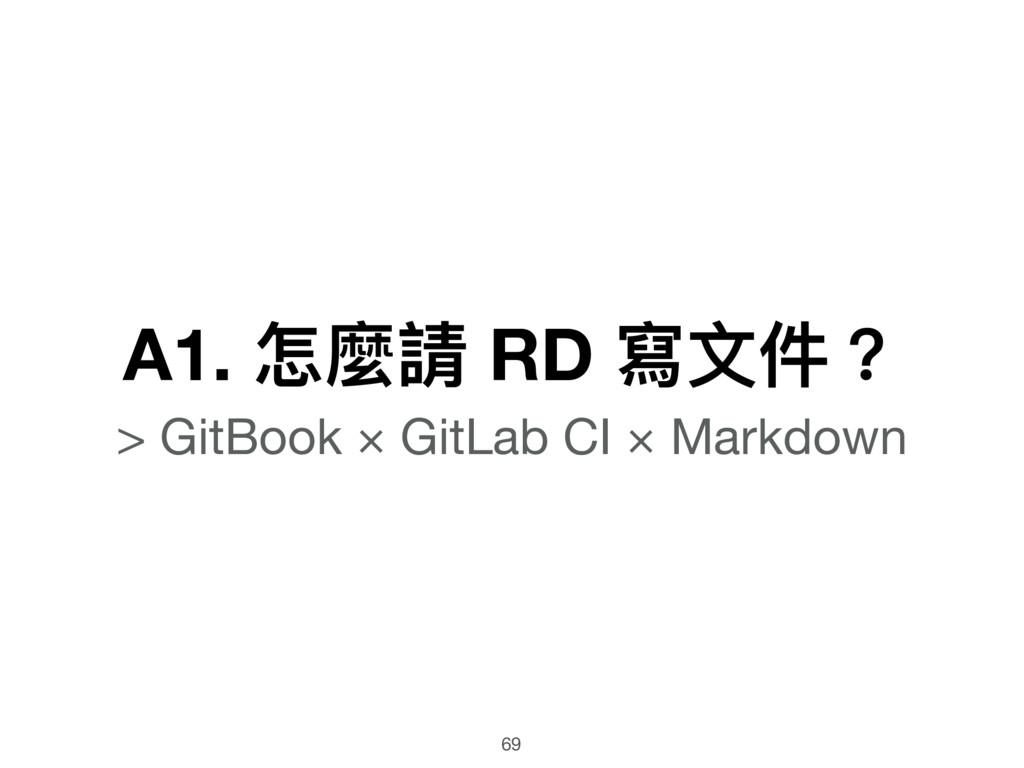 A1. 怎麼請 RD 寫⽂文件?  > GitBook × GitLab CI × Markd...