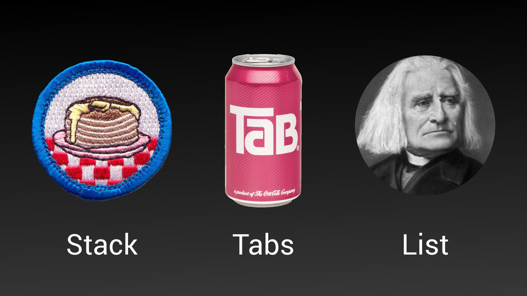 Tabs Stack List