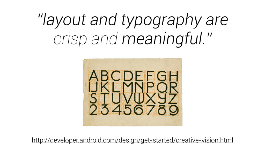 """layout and typography are crisp and meaningful..."