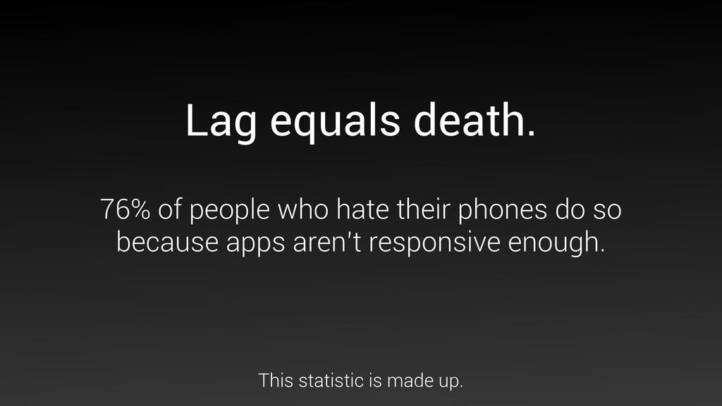 Lag equals death. 76% of people who hate their ...