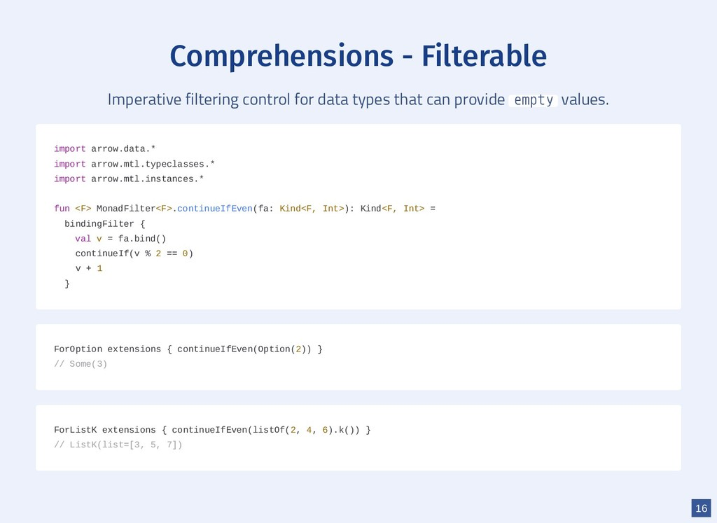 Comprehensions - Filterable Imperative filterin...