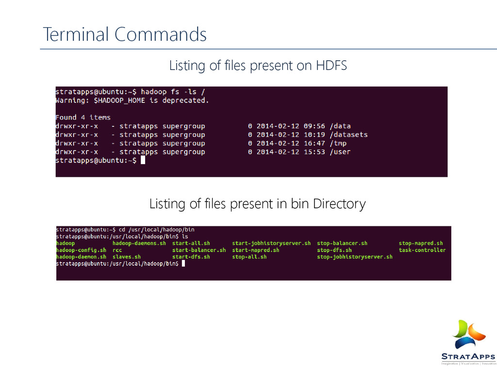 Terminal Commands Listing of files present on H...