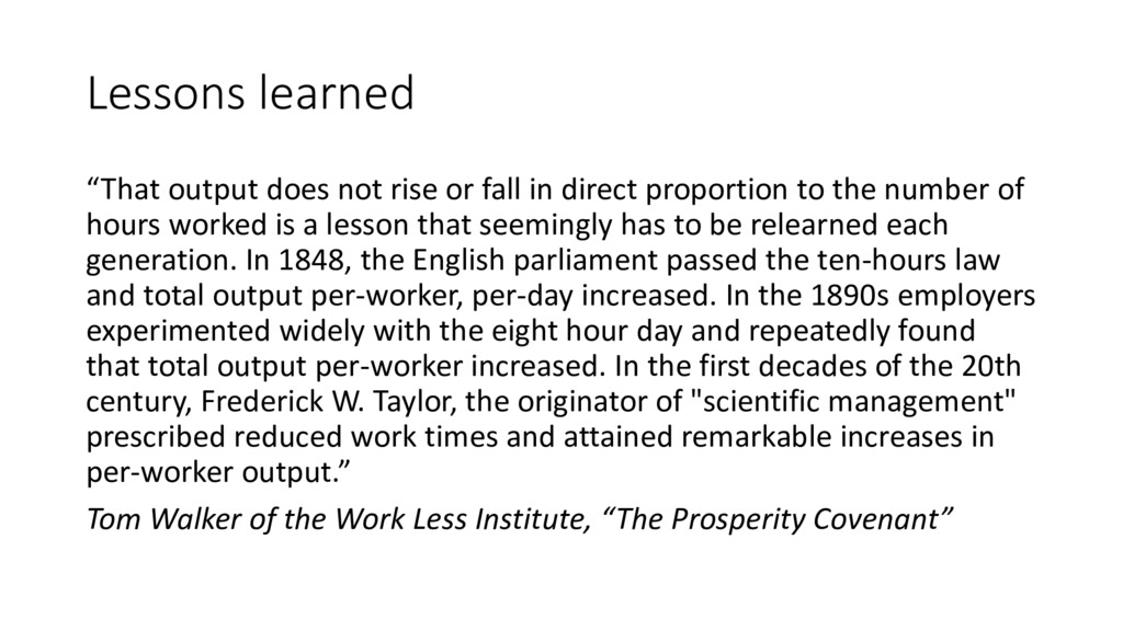 """Lessons learned """"That output does not rise or f..."""