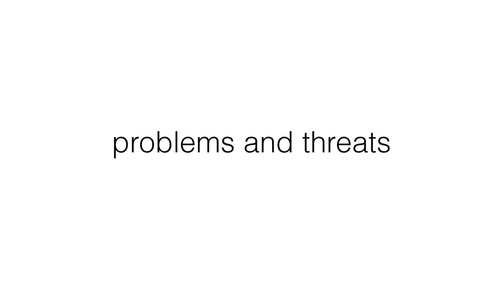 problems and threats